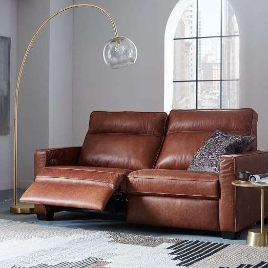 "Henry® Leather Power Recliner Sofa (77"") 