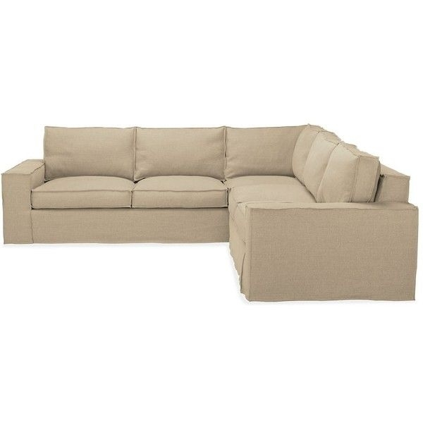 "Hewitt 110X110"" Sectional W/left Arm Corner Sofa Slipcovered In With Regard To 110X110 Sectional Sofas (Image 10 of 10)"