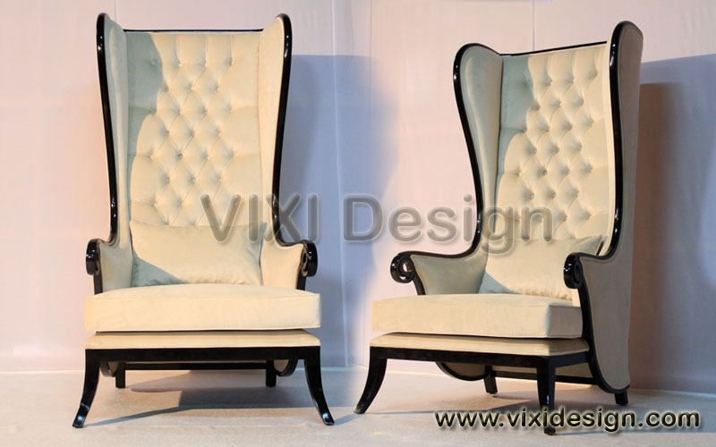 High Back Gothic Throne Chairs | High Back Chair Executive Lounge Throughout High Back Sofas And Chairs (Image 3 of 10)
