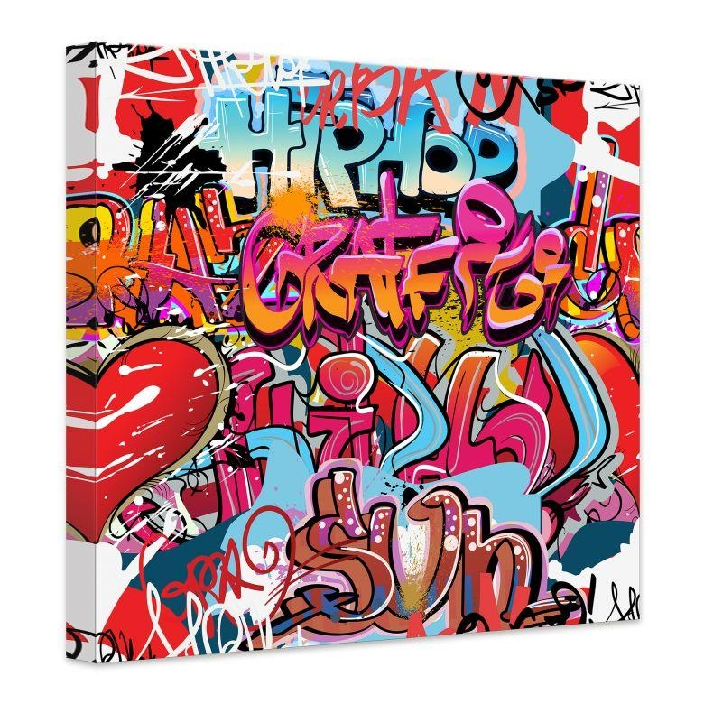 Hip Hop Graffiti Canvas Print – Wall Art With Regard To Graffiti Canvas Wall Art (Image 12 of 20)