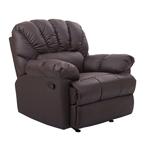 Homcom Pu Leather Rocking Sofa Chair Recliner – Brown Http://www With Regard To Rocking Sofa Chairs (Image 3 of 10)