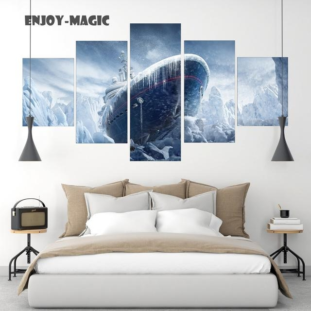 Home Decor Canvas Poster Rainbow Six Siege Painting Boat Ship Ice Inside Rainbow Canvas Wall Art (View 18 of 20)