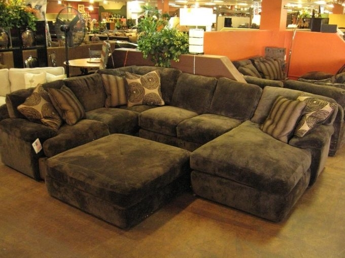 Home Decor: Pleasing Sectional With Oversized Ottoman Inspiration For Sectionals With Oversized Ottoman (Photo 3 of 10)