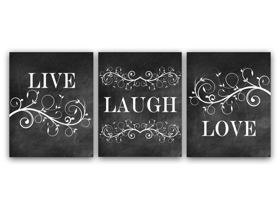Home Decor Wall Art Live Laugh Love Art Chalkboard Wall Art Regarding Live Laugh Love Canvas Wall Art (Photo 12 of 20)