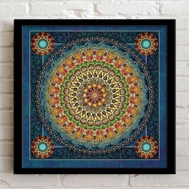 Home Decoration Framed Wall Art Canvas Painting Ethnic Picture For Regarding Ethnic Canvas Wall Art (Image 13 of 20)