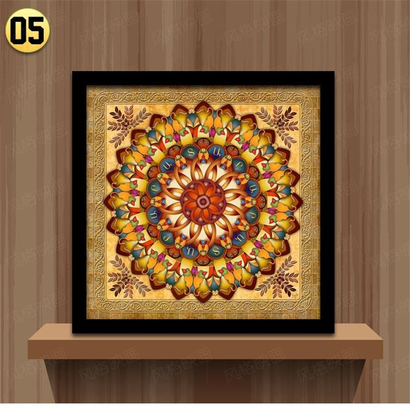 Home Decoration Framed Wall Art Canvas Painting Ethnic Picture For Within Ethnic Canvas Wall Art (Image 14 of 20)