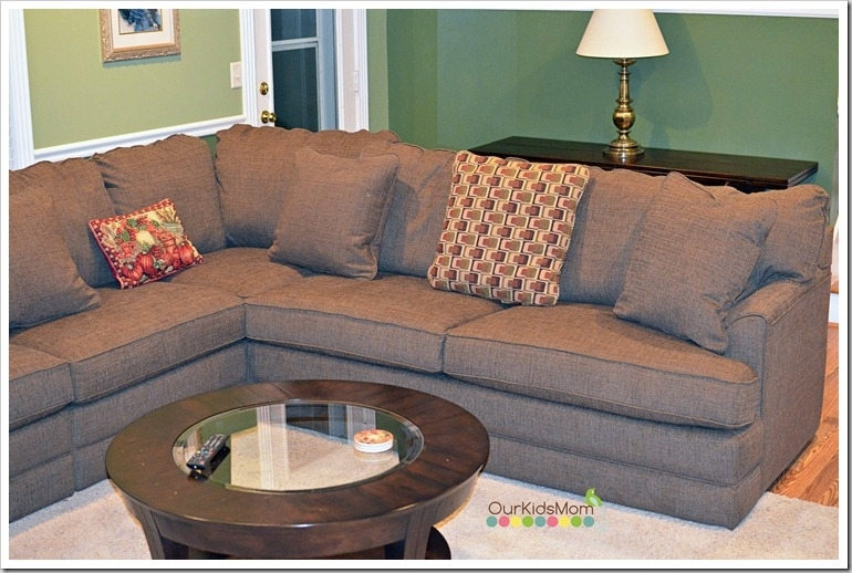 Home Makeover | Our New La Z Boy Living Room – Ourkidsmom In Sectional Sofas At Lazy Boy (View 10 of 10)