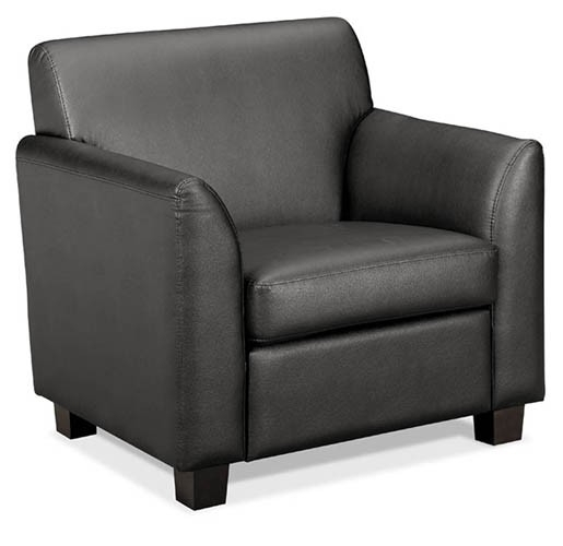 Hon Basyx Series Leather Lounge Seating – Club Chair | School Within Lounge Sofas And Chairs (Image 8 of 10)