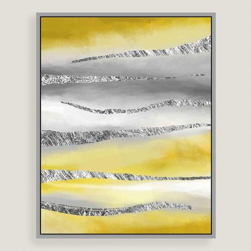Horizon Canvas Wall Art With Silver Leaf Intended For Abstract Horizon Wall Art (Image 11 of 20)