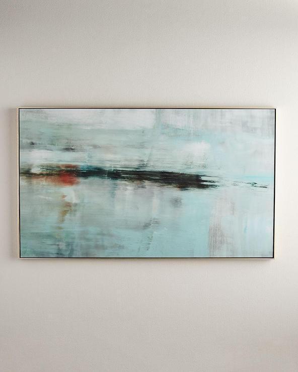 Horizon Giclée Floater Frame Wall Art Inside Abstract Horizon Wall Art (Image 12 of 20)