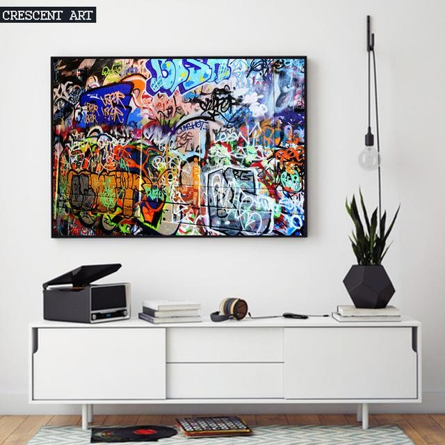 Hot Sale Modern Pop Teenage Graffiti Street Art Poster Abstract Pertaining To Abstract Wall Art Posters (Image 8 of 20)