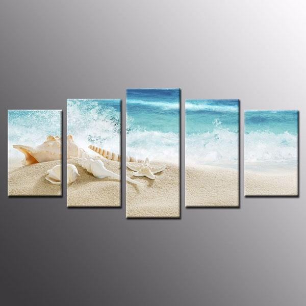 Hot Sale Reasonable Price Framed Sea Shell Starfish Beach Canvas Throughout Beach Canvas Wall Art (Image 10 of 20)