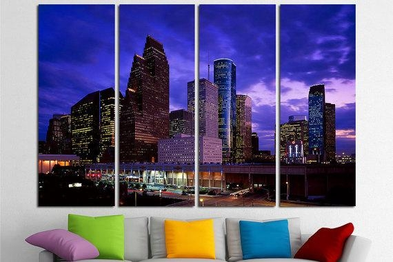 Featured Image of Houston Canvas Wall Art