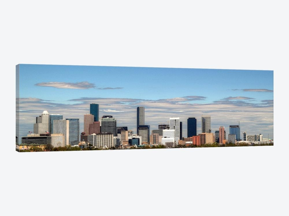 Houston Panoramic Skyline Cityscape Canvas Wall Art | Icanvas For Houston Canvas Wall Art (Image 12 of 20)