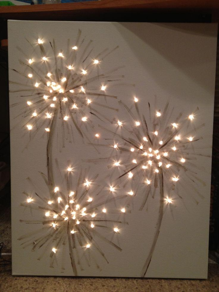 How Cool! This Could Be Dandelions Or Fireworks! A Simple Art For Throughout Dandelion Canvas Wall Art (Image 12 of 20)