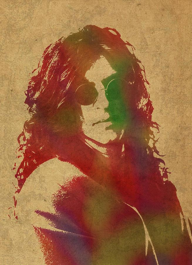 Howard Stern Watercolor Portrait Mixed Mediadesign Turnpike Within Howard Stern Canvas Wall Art (Image 11 of 20)