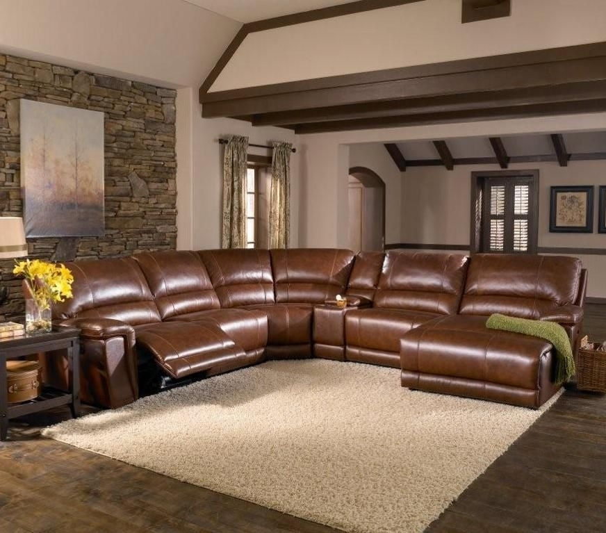 Htl Furniture: 2678Cs Reclining Leather Sectional Sofa #den #recline Within Memphis Tn Sectional Sofas (Photo 3 of 10)