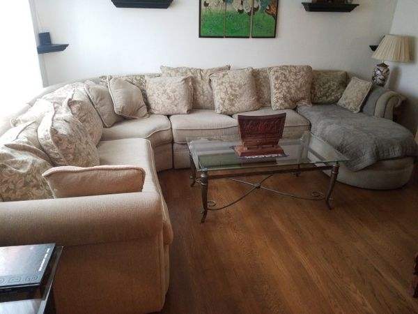 Huge 4 Piece Sectional Sofa (Furniture) In Virginia Beach, Va – Offerup Regarding Virginia Beach Sectional Sofas (Image 3 of 10)