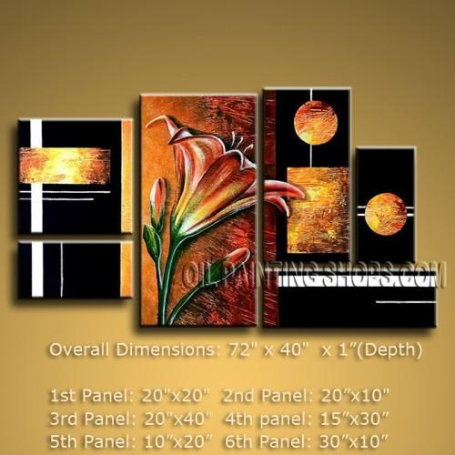 Huge Abstract Oil Painting Canvas Wall Art Modern Contemporary With Regard To Modern Abstract Oil Painting Wall Art (View 7 of 20)