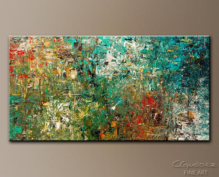 Huge Large Abstract Art Painting Discovery Modern Colorful Within Modern Abstract Huge Wall Art (Image 6 of 20)