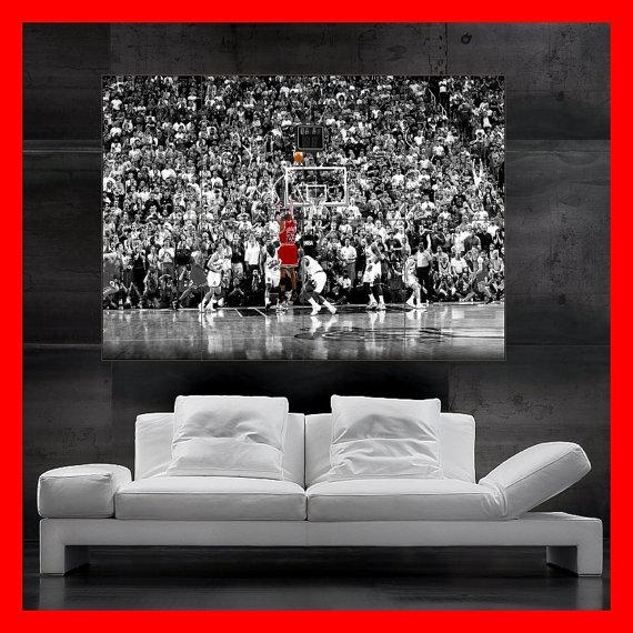 Huge Michael Jordan 23 Poster Wall Art Print Photoflyingdingo Within Michael Jordan Canvas Wall Art (Image 8 of 20)