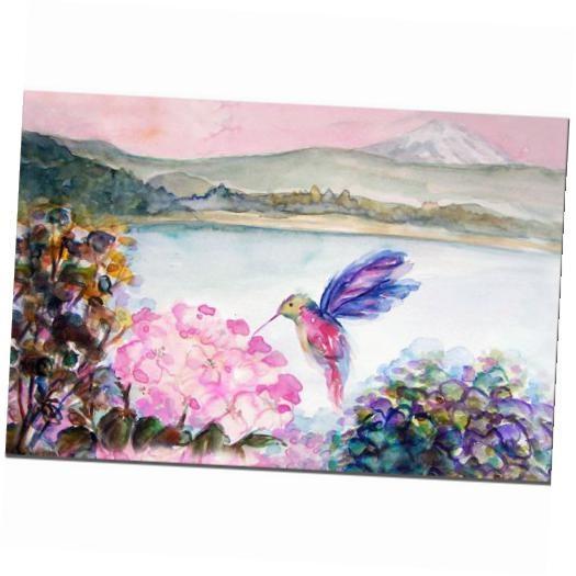 Hummingbird's Joy Canvas Wall Artwendra 14W X 19H In (Image 11 of 20)