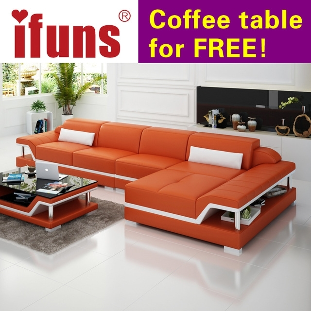 Ifuns Chaise Sofa Set Living Home Furniture Modern Design Genuine With Regard To Home Furniture Sectional Sofas (Image 7 of 10)