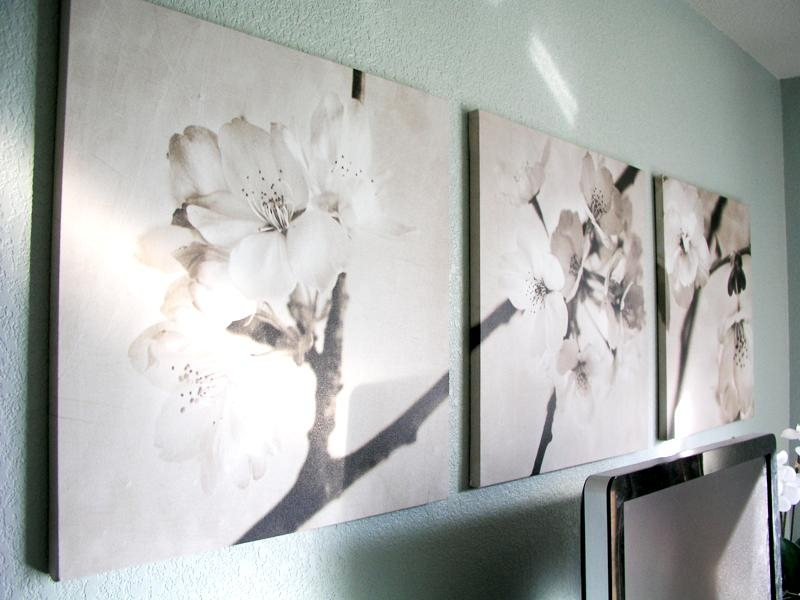 Ikea Art Cherry Blossoms In Sepia – Found Recently For (View 3 of 20)