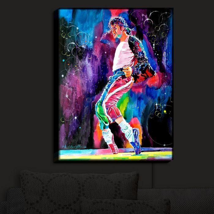 Illuminated Wall Art | David Lloyd Glover's Michael Jackson Dance With Regard To Michael Jackson Canvas Wall Art (View 16 of 20)