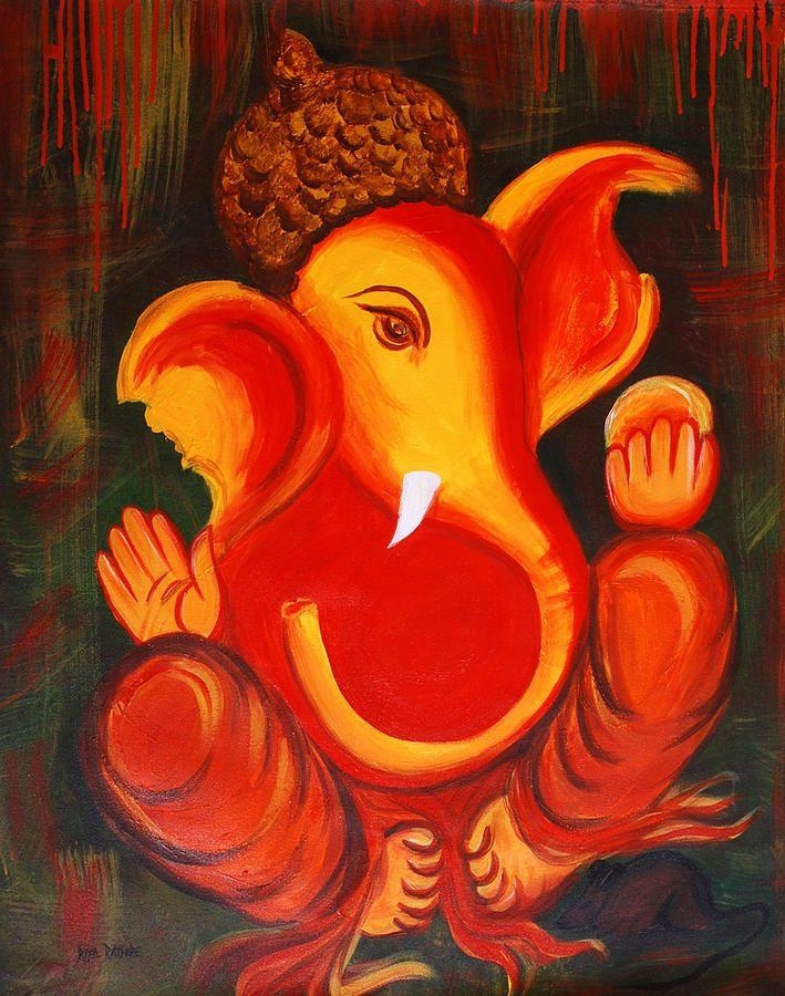 Image Result For Ganesha Abstract Painting | Ganesha | Pinterest Inside Abstract Ganesha Wall Art (Photo 7 of 20)