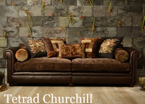 Image Result For Leather And Fabric Sofa | For The Home | Pinterest Within Leather And Cloth Sofas (Image 4 of 10)