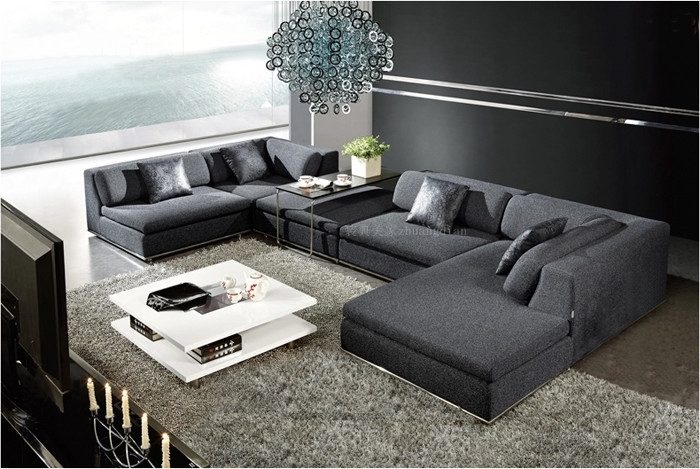 Indian Sofa Set,indian U Shaped Sofa For Living Room,modern Dark Pertaining To Modern U Shaped Sectionals (Photo 5 of 10)