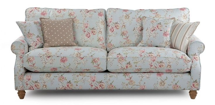 Inspiration Idea Shab Chic Sofas With Sofa Country Stylefloral In Shabby Chic Sofas (Image 2 of 10)