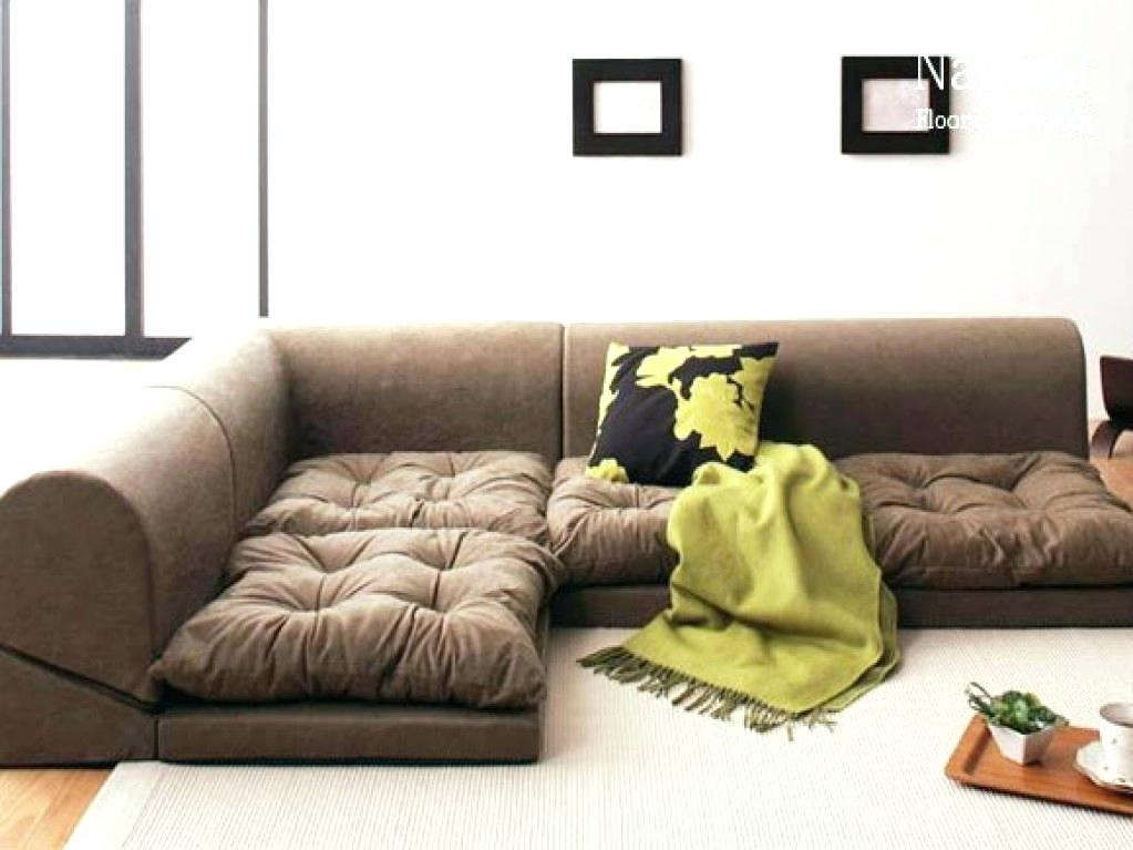 Inspirational Floor Cushion Couch For Floor Seating Furniture Regarding Floor Cushion Sofas (Image 8 of 10)
