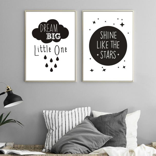 Inspirational Love Quotations Canvas Painting Poster Printable Within Modern Nursery Canvas Wall Art (View 10 of 20)