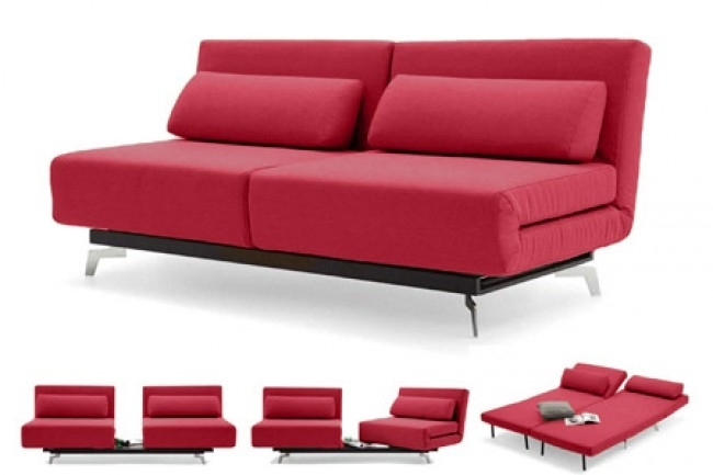 Inspiring Red Modern Sleeper Sofa Apollo Futon Couch The Shop For Red Sleeper Sofas (Image 6 of 10)