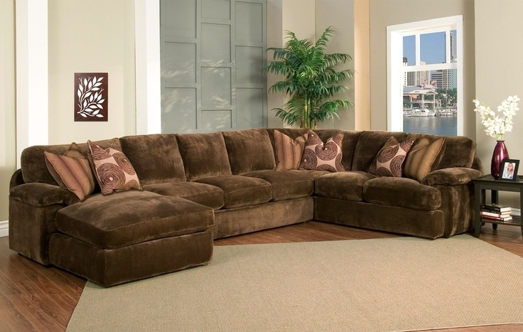 Interior : Large Sectional Sofas With Chaise Dark Brown Colored Sofa Inside Long Chaise Sofas (Photo 5 of 10)