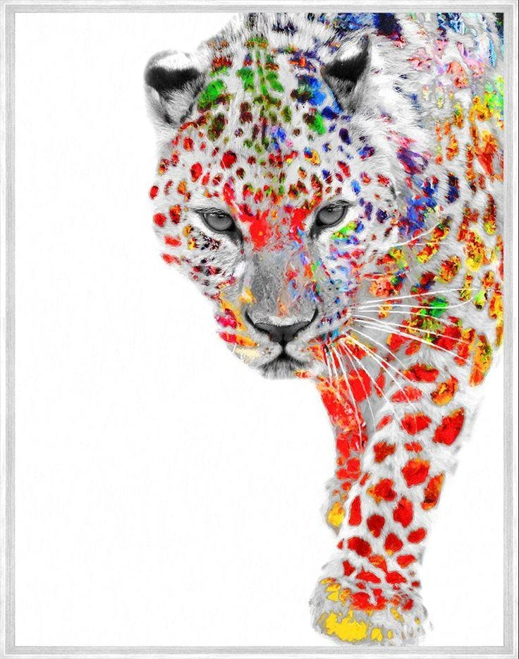 Interior Wall Art :: Canvas Print Wall Decor :: Animal Art :: My With Rainbow Canvas Wall Art (Photo 12 of 20)