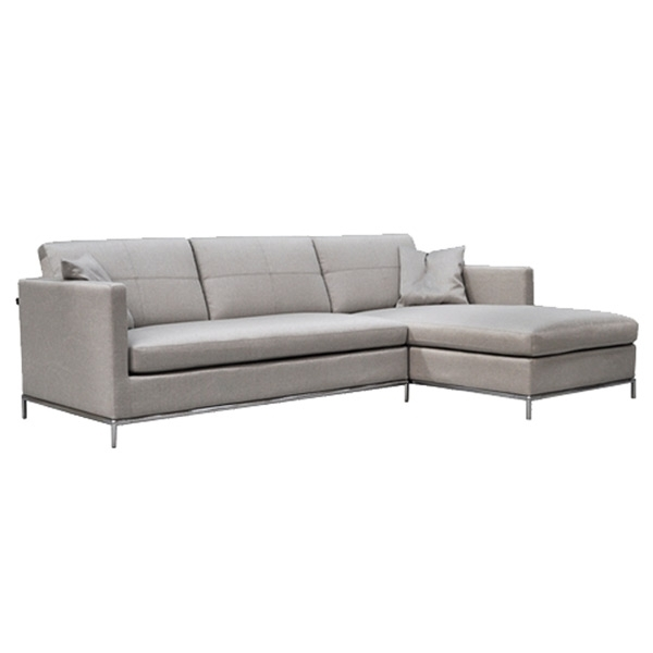 Istanbul Sectional Sofa In Grey Brick Fabric | Buy Sectional Sofas Intended For The Brick Sectional Sofas (Photo 7 of 10)