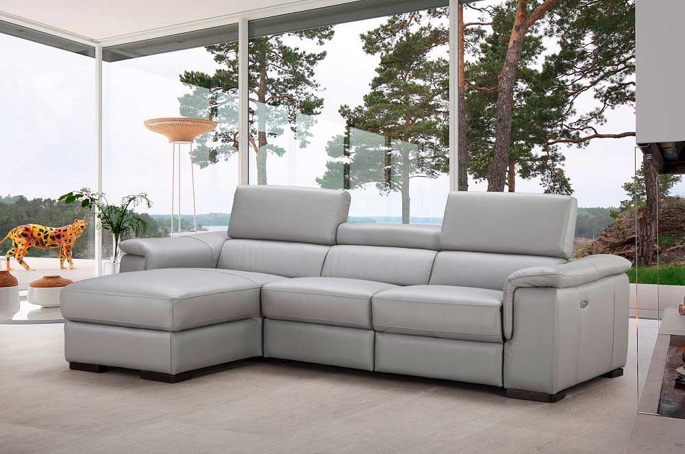 Italian Leather Power Recliner Sectional Sofa Nj Alda | Leather With Nj Sectional Sofas (Image 3 of 10)