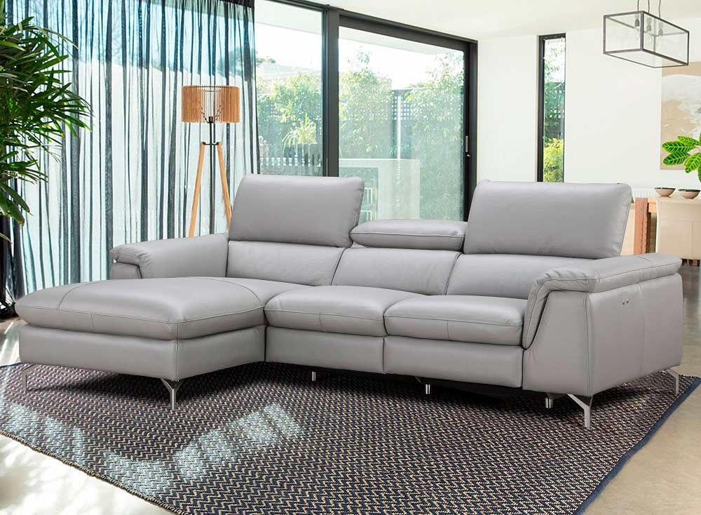 Italian Leather Power Recliner Sectional Sofa Nj Saveria | Leather Throughout Nj Sectional Sofas (Photo 1 of 10)