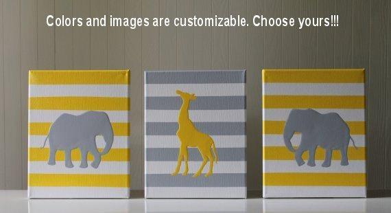 Items Similar To Jungle Nursery Wall Art Jungle Nursery Decor In Safari Canvas Wall Art (Image 13 of 20)