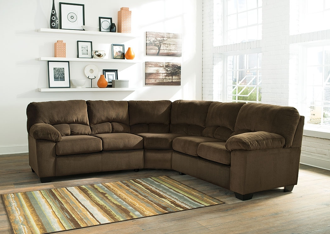Ivan Smith Dailey Chocolate Sectional With Ivan Smith Sectional Sofas (View 10 of 10)