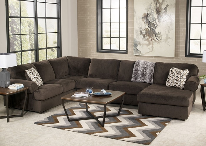 Ivan Smith Jessa Place Chocolate Right Facing Chaise Sectional Throughout Ivan Smith Sectional Sofas (View 5 of 10)