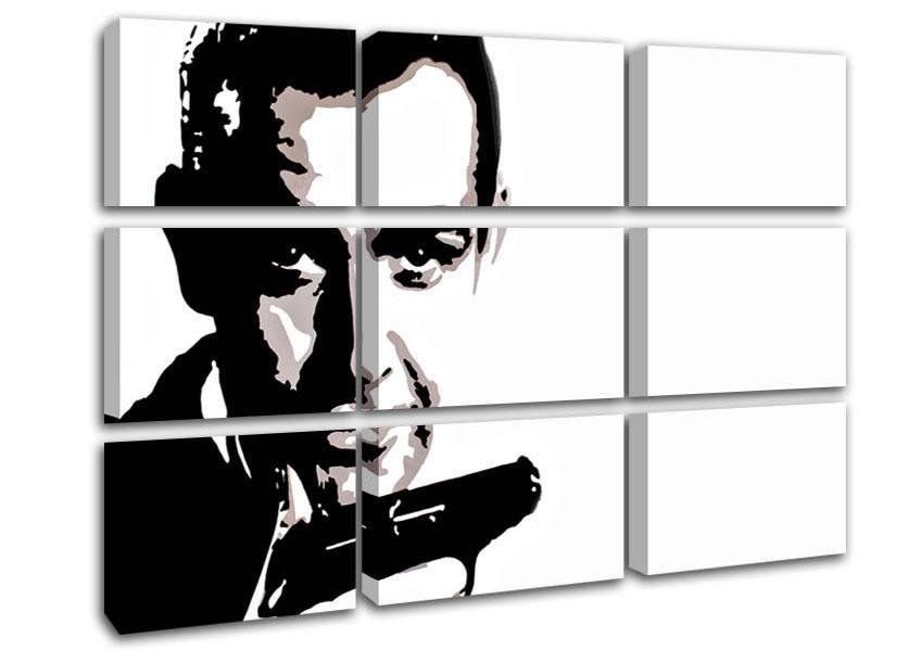 James Bond Sean Connery People 9 Panel Canvas 9 Panel Set Canvas With James Bond Canvas Wall Art (Image 14 of 20)