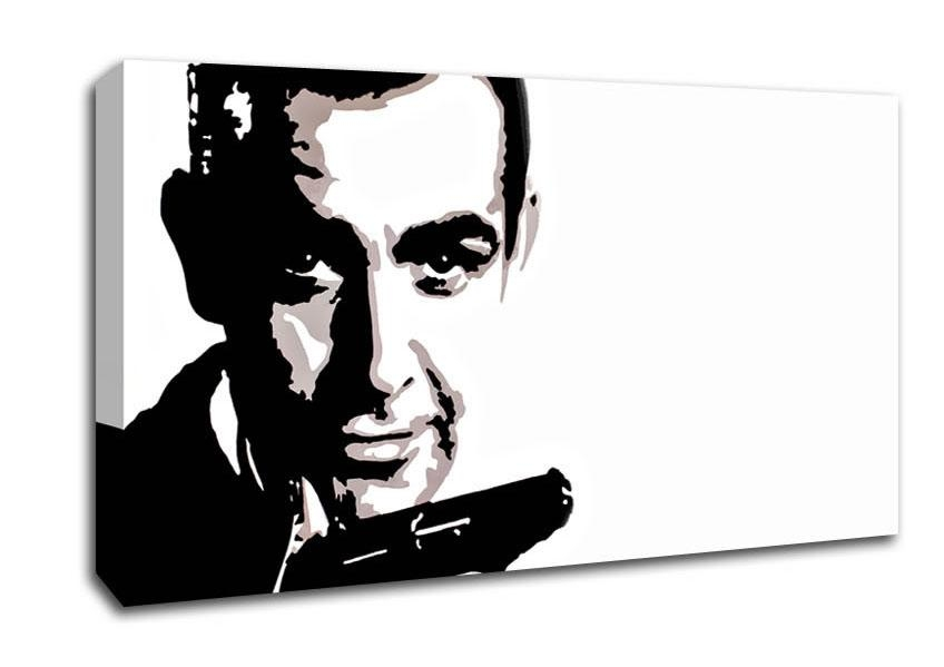 James Bond Sean Connery People Wide Panel Canvas Wide Canvas Intended For James Bond Canvas Wall Art (Photo 2 of 20)