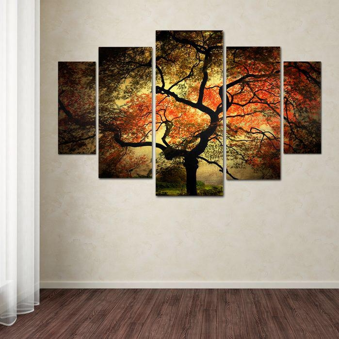 """Japanese""""philippe Sainte Laudy 5 Piece Photographic Print On Pertaining To Japanese Canvas Wall Art (View 3 of 20)"""
