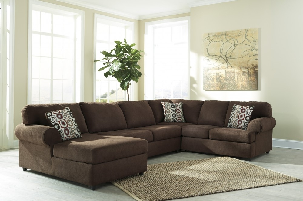 Jayceon – Java 3 Pc Laf Corner Chaise Sectional | Sectionals Intended For Eau Claire Wi Sectional Sofas (Image 4 of 10)