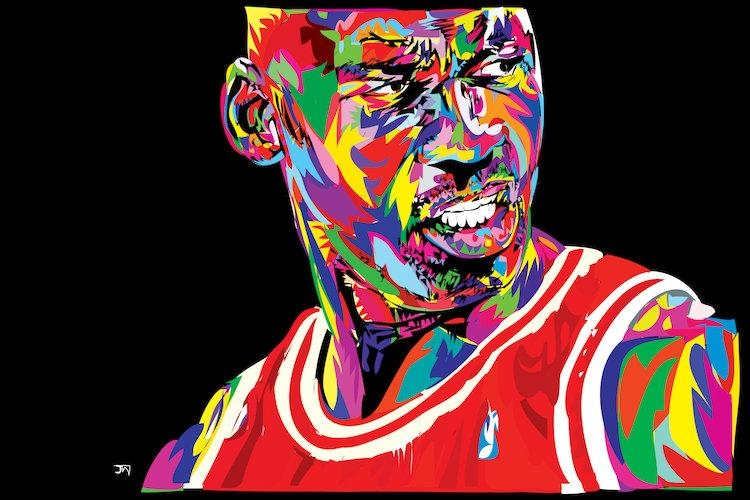 Jordan Portrait Canvas Art Printtechnodrome1 | Icanvas Within Michael Jordan Canvas Wall Art (Image 9 of 20)