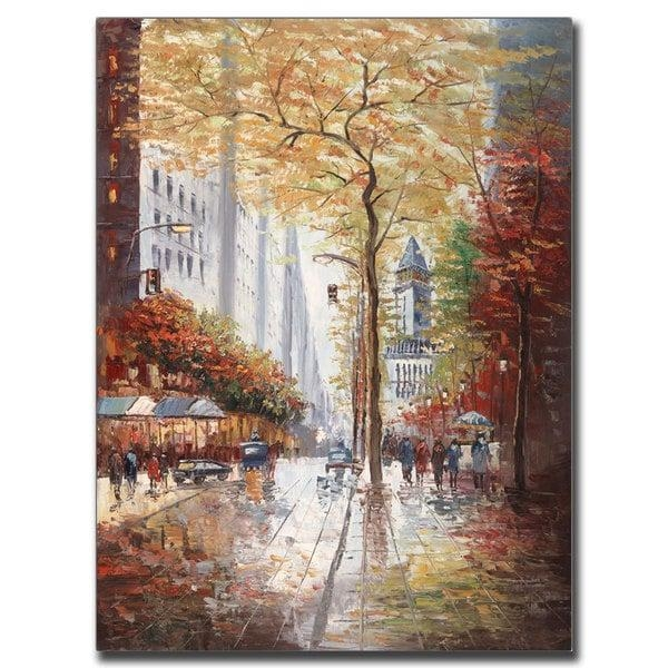 Joval 'french Street Scene Ii' Canvas Wall Art – Free Shipping With Regard To Joval Canvas Wall Art (Image 11 of 20)
